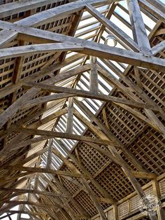 Oak Frame Detail of Penistone Market Public Build by Carpenter Oak Ltd Devon Monumental Architecture, Wood Architecture, Architecture Details, Oak Framed Buildings, Timber Buildings, Timber Posts, Timber Structure, Wood Joints, Post And Beam