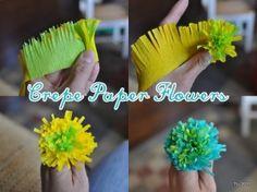 Crepe Paper Flowers by ana.ventosaalvarez