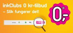 inkClubs 0 kr-tilbud  – Slik fungerer det!