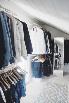 Bedroom Closet Storage, Walking Closet, Ikea, Loft, Interior, Inventions, Room Ideas, Home Decor, Tips