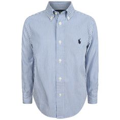 Ralph Lauren Boys Blue & White Striped Shirt