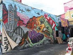 5Pointz Mural with Godzilla
