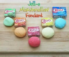 Jello Marshmallow Fondant : doesn't taste same as store bought fondant   http://instructables.com/id/Jell-O-Marshmallow-Fondant/