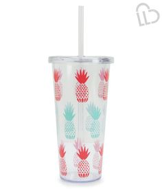 LIVE LOVE DREAM Whether you're staying hydrated at the gym or sipping a beverage on the beach, our LLD Pineapple Tumbler makes everything more fun! It's designed with clear BPA-free plastic and features a fun, colorful pineapple print on the sides.<br><br>25 oz.<br>Style: 0301. Imported.