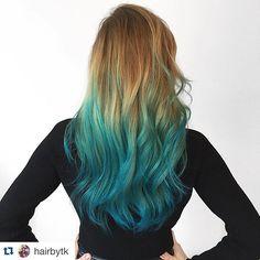 I am a creature of the ocean.  thanks @hairbytk #repostapp #imblue #mermaid…