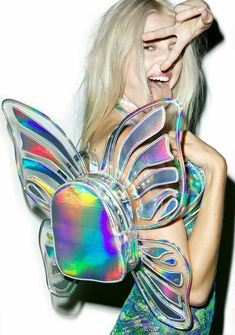 In My Next Life •~• iridescent butterfly backpack