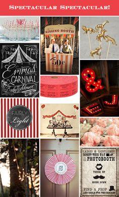 Circus theme party, wedding, event   Spectacular Spectacular   Carnival via Fairly Light