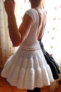 """Платье """"Черное и белое Монро"""" - Вязание - Страна Мам"""