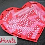 Washi Tape Hearts with Lacing Practice