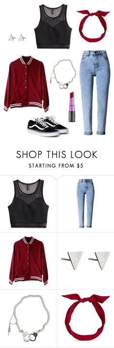 """""""Modern Rockabilly"""" by rebellious-ingenue ❤ liked on Polyvore featuring H&M, WithChic, Rachel Jackson, Jessica de Lotz Jewellery, yunotme, Urban Decay and modern"""