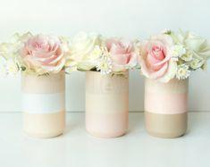 Vases en bois lot de 3 décor de vacances cuivre par ShadeonShape