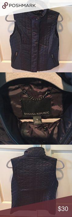 Banana Republic Quilted Vest Never worn black quilted vest from Banana Republic. Great for layering! Banana Republic Jackets & Coats Vests