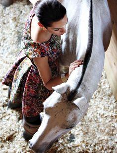 Carolina Herrera dress...I don't think i'd wear that in a horse barn haha