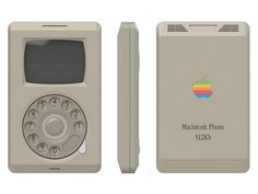 Macintosh Phone Concept  Designer Pierre Cerveau imagined an Apple phone concept called Macintosh Phone showing the iPhone concept if it would have been released in the 80s twenty years before the real iPhone. It would be equiped of a rotary dial in order to be used as an old rotary phone. The screen would be a CRT screen.      #xemtvhay