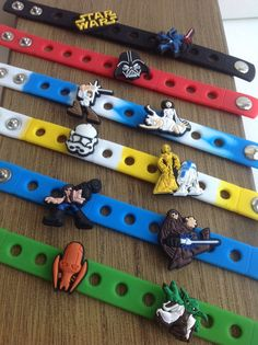 Welcome to the SuperMommyShop! Star Wars Party Favor Charm Bracelets These PVC charms can also fit into the holes of croc shoes! These are great