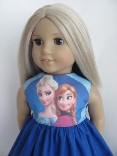 Frozen Inspired Doll Dress for the American Girl featuring Anna & Elsa by TheWhimsicalDoll2