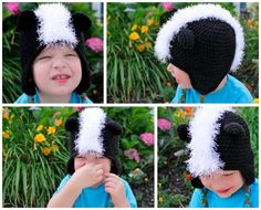 This is one of the many ideas Micah has listed for the same hat pattern... and the pattern is free! (the variations are also shown on this page)