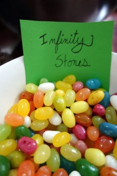 Superhero Party Food: Infinity Stones Use Mike and Ikes instead of jellybeans Hulk Party, Superhero Party Food, Spy Party, Avenger Party, Avenger Birthday Party Ideas, Birthday Ideas, Marvel Baby Shower, Superhero Baby Shower, Hulk Birthday