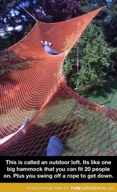 Outdoor loft can i please have this!?   campinglivezcampinglivez
