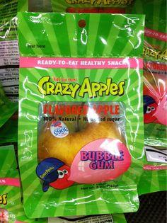huh????  really....why make apples taste like bubble gum....gross!