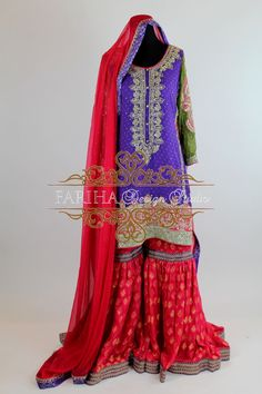 PURPLE AND PINK GHARARA