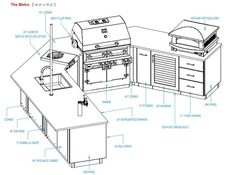 Building Plans Outdoor Kitchen | Home Designs for Outdoor Kitchen Plan Ideas: kitchen cabinets and ...