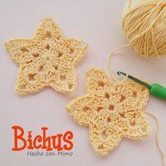 Patron Gratis Estrella de Crochet                                                                                                                                                      Más