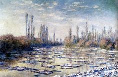 Claude Monet, The Floating Ice (1880
