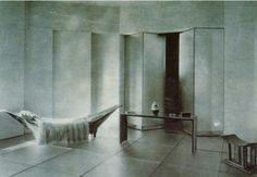 Eileen Gray 'Pirogue daybed' in rue de Lota apartment 1920-24