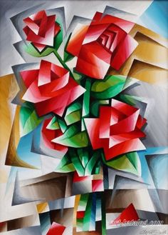 Modern geometric floral wall art effortlessly adds a splash of personality to any space. Folk Art Flowers, Flower Art, Cubist Art, Abstract Art, Geometric Shapes Art, Floral Wall Art, Collage Art, Art Lessons, Watercolor Art
