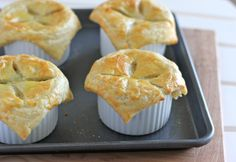 , Individual Chicken Pot Pies - I bought ramekins! How could I not use them for pot pies Pie Recipes, Real Food Recipes, Cooking Recipes, Yummy Food, Chicken Recipes, Recipies, Individual Chicken Pot Pies, Vegetable Pot Pies, I Love Food