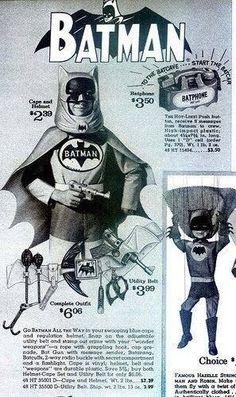 Batman Helmet And Utility Belt, Sears catalog page (1966).