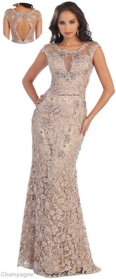 NEW LACE FORMAL DESIGNER DRESS EVENING UNIQUE PROM GOWN PAGEANT RED CARPET PARTY #Designer #Dress