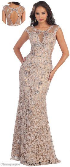 NEW LACE FORMAL DESIGNER DRESS EVENING UNIQUE PROM GOWN PAGEANT RED CARPET PARTY #Designer #Dress