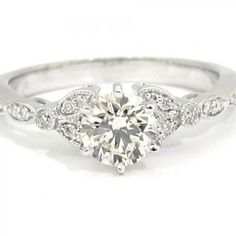 Vintage Edwardian White Gold Diamond Engagement Ring one of the prettiest I have Ever seen