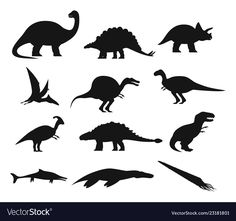 Contour or outline of ancient dinosaurus or dino vector image on VectorStock Dinosaur Outline, Dinosaur Silhouette, Cartoon Dinosaur, Dinosaur Pattern, Cute Dinosaur, Spinosaurus, Extinct Animals, T Rex, Royalty Free Images