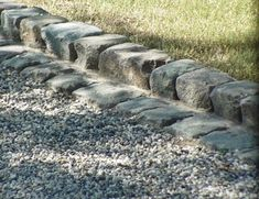 Cobblestone Gallery - Antique Reclaimed Old Granite Cobblestone, Antique Curb, Stone Driveway Pavers Rock Driveway, Driveway Border, Gravel Driveway, Gravel Patio, Driveway Landscaping, Landscaping With Rocks, Driveway Ideas, Oldcastle Pavers, Permeable Driveway