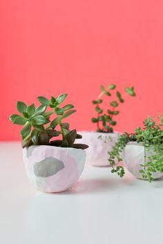 DIY: mini pinch pot planters