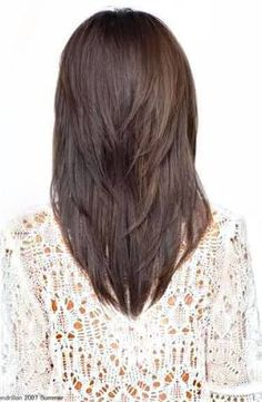 v cut for medium hair - Google Search
