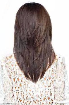 v cut for medium hair - Google Search