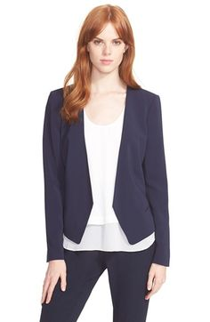 Free shipping and returns on Rebecca Taylor 'Devon' Jacket at Nordstrom.com. Clean lines and a feminine back peplum define this sleek jacket with cutaway fronts, lined and designed with stretch fabric for a flattering fit.