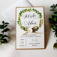 Svatební+oznámení+Svatební+oznámení.+přírodní+čtvrtka,+bílá+grafická+čtvrtka+s+jemnou+strukturou+rozměry:+10,2+x+15+cm+papírový+květ,+jutový+provázek+včetně+bílé+obálky+vyšší+gramáže+cena+za+1+ks Place Cards, Place Card Holders, Wedding Ideas, Wedding Ceremony Ideas