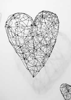 Large wire Heart- by gilhooly studio, via Flickr