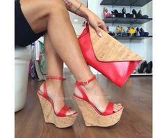 Zeppa scarpami Sughero Rosso