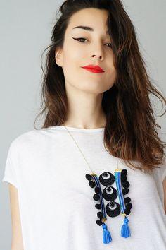 Lione // Statement Necklace/ Statement Jewelry/ Tassel by EPUU