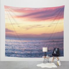 Hey, I found this really awesome Etsy listing at https://www.etsy.com/listing/237529812/pink-tapestry-sunset-wall-hanging-modern