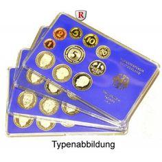 Bundesrepublik Deutschland, Kursmünzensatz 1990, DFGJ komplett, PP: Kursmünzensatz 1990 DFGJ komplett. Polierte Platte 50,00€ #coins