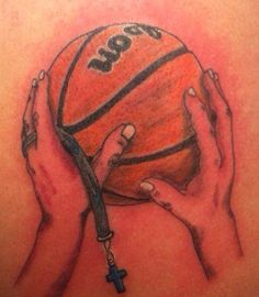 Basketball&Cross This is my moms tattoo! Fo reaal