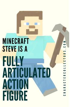The Steve Minecraft toy is a great action figure with full articulation. A great gift for little boys. Click Read it to check out the article! #Minecraft #ActionFigures #Toys