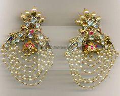 Earrings / Jhumkis / Chandbali - Gold Jewellery Earrings / Jhumkis / Chandbali (ERJS6889) at USD 2,138.72 And GBP 1,631.32